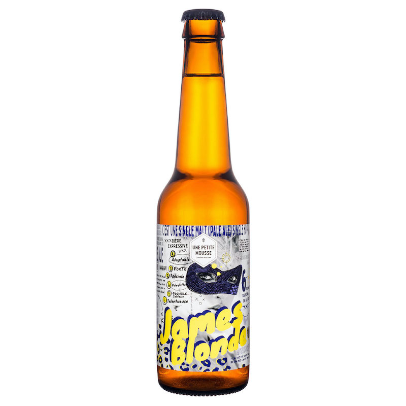 Bière James Blonde - Brasserie Une Petite Mousse